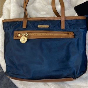 Micheal Kors baby Blue nylon small tote